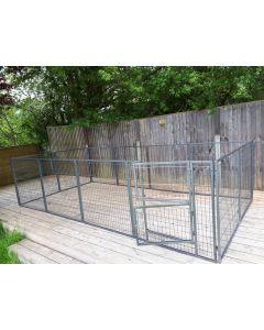 NEW 2016 Margothedog Puppy Exercise Pen Modular Dog Cage 11 panels & 1 door