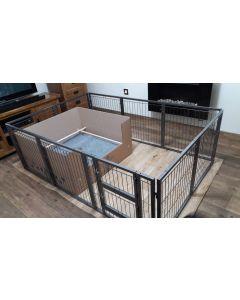 NEW 2018 Margothedog Puppy Exercise Pen Modular Dog Cage 9 panels & 1 door