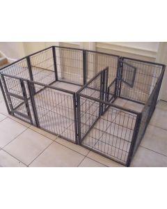 NEW 2018 Margothedog Puppy Exercise Pen Modular Dog Cage 10 panels & 1 door