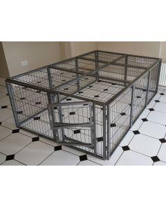 NEW 2018 Margothedog Puppy Exercise Pen Modular Dog Cage 15 panels & 1 door